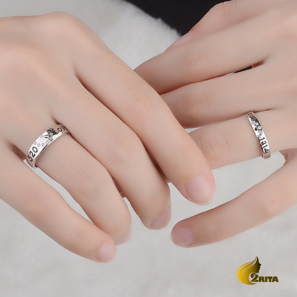انگشتر نقره ست زنانه و مردانه