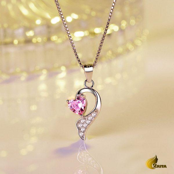 آویز نقره دخترانه قلب