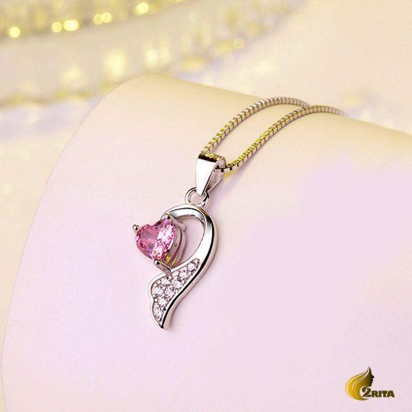 گردنبند نقره زنانه قلب